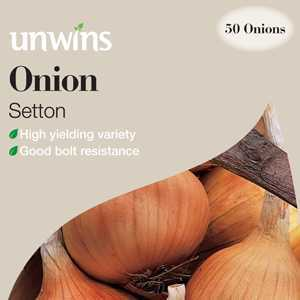 Unwins Onions Setton Sets/Bulbs 50 Per Pack
