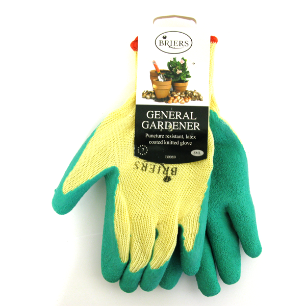 Briers General Gardener Gloves Cream & Green Small