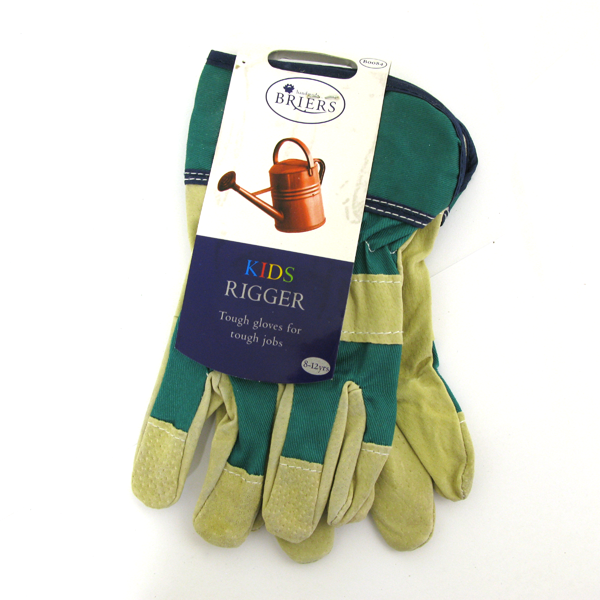 Briers Kids Rigger Gardening Gloves 8-12yrs B0084