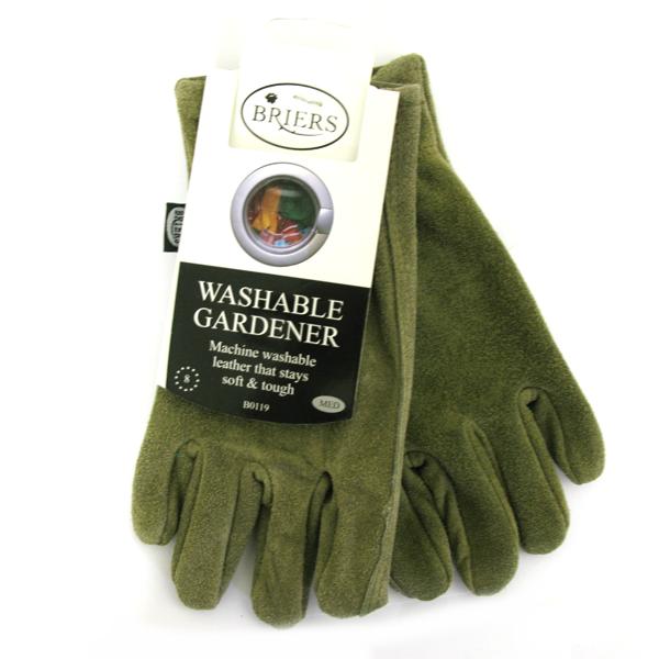 Briers Washable Gardener Gloves Medium Olive B0119