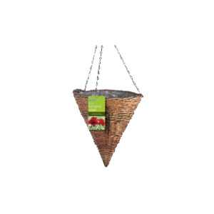 Rustic Hanging Basket Cone Shaped Gardman 12 inch 30cm 02049