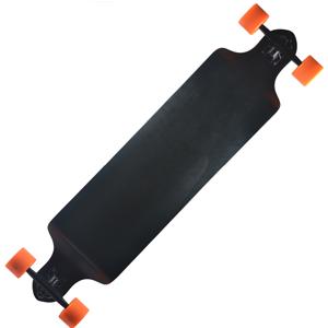 Backfire Plain Black Longboard