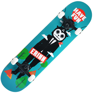 Backfire Erinn Have Fun (Blue) Skateboard