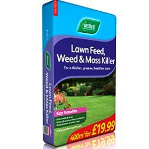 Westland Lawn Feed, Weed and Moss Killer 400m²