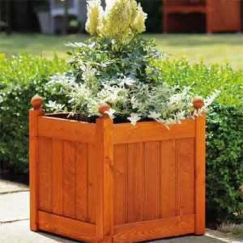 AFK Garden Classic Stained Planters 460 Teak 20 Inch Height