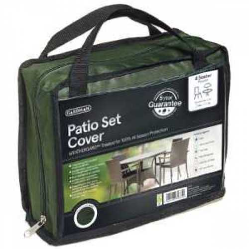 Gardman Black 4 Seater Round Patio Set Cover 35605