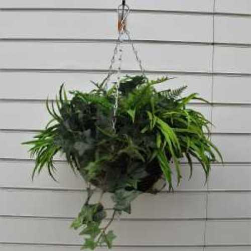 Artificial Foliage Hanging Basket