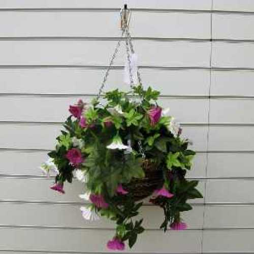 Artificial Trailing Petunia Hanging Basket