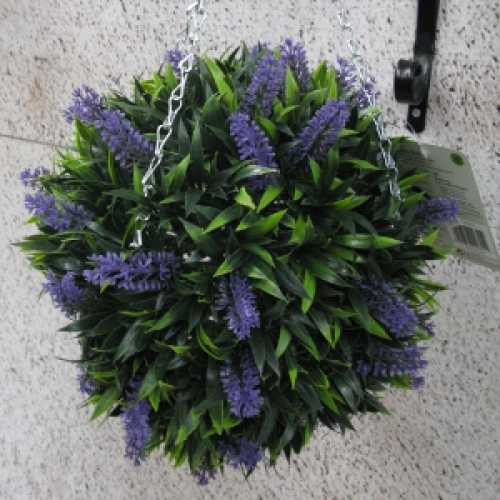 Artificial Lavender Hanging Topiary Ball 30cm