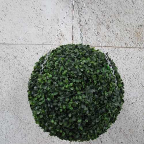 Artificial Boxwood Hanging Topiary Ball  40cm
