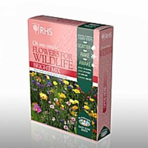 RHS Flowers for Wildlife Bright Mix Seed Collection