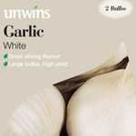 Unwins Garlic White Bulbs 2 Per Pack