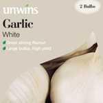 Unwins Garlic White Bulbs 2 Per Pack