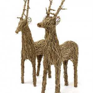 The Old Basket Company (TOBS) Large Wicker Reindeer 2.5m