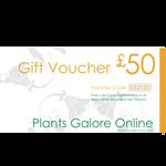 £50.00 Plants Galore Gift Voucher