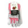 Briers Rigger Gardening Glove (Ladies) Grey and Pink Size Medium (Classic Garden Glove)
