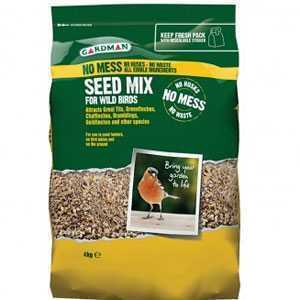 Gardman Bird Food No Mess Seed Mix 4kg A06540