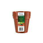 Premium Pack of 5 Flower Pots 5in - 12.7cm - Stewart Garden