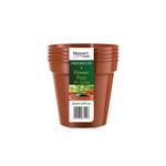 Premium Pack of 5 Flower Pots 5in - 12.7cm - Stewart Garden