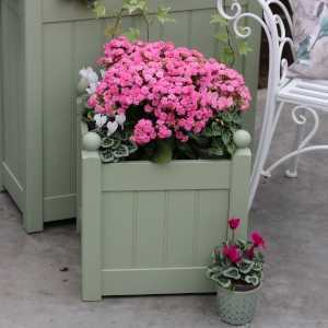AFK Garden - Classic Painted Planters 380T Heritage Sage 17 inch height