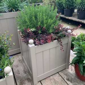 AFK Garden Classic Painted Planters 460 Nutmeg 20 Inch Height