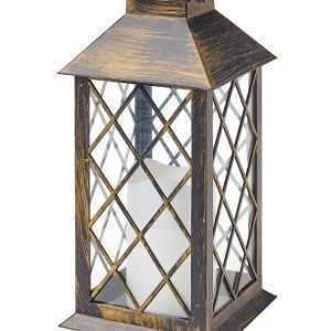 Cole & Bright Solar Traditional Candle Lantern Gold L23023
