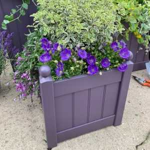AFK Garden - Classic Painted Planters 380T Lavender 17 Inch Height