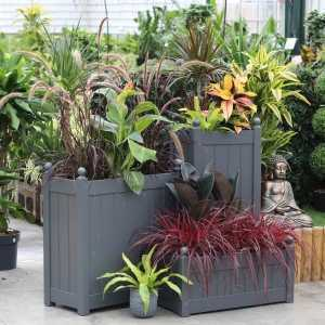 AFK Garden - Classic Painted Tall Trough Charcoal 660