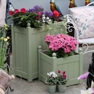 AFK Garden - Classic Painted Tall Trough Heritage Sage  660